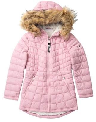 DKNY Glacier Shield Jacket with Faux Fur (Big Girls)