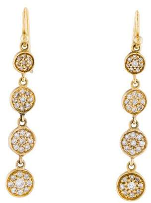Jennifer Meyer 18K Diamond Disc Drop Earrings