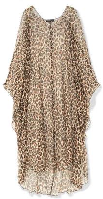 Caroline Constas Avari Leopard-print Silk And Lurex-blend Chiffon Kaftan - Leopard print