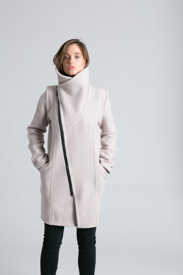 Etsy Stylish Jacket / High Collar Sweater Jacket / Asymmetrical Jacket / Trench Coat / Wool Jacket Marcel