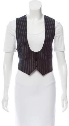 Saint Laurent Wool Pinstriped Vest w/ Tags