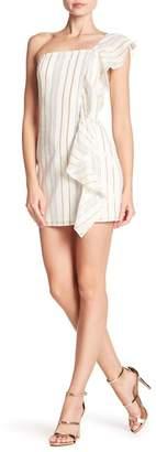 Tularosa Cait Ruffle One-Shoulder Mini Dress