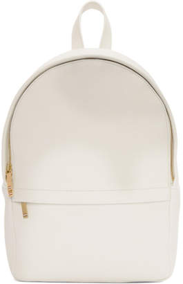 Thom Browne White Small Unstructured Backpack