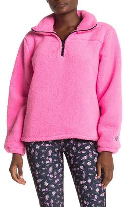 Betsey Johnson Funnel Neck Fleece Pullover