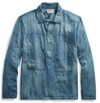 Ralph Lauren Indigo Cotton Popover Shirt