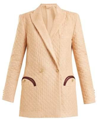 Blazé Milano - Kalmar Quilted Terry Towelling Blazer - Womens - Light Pink