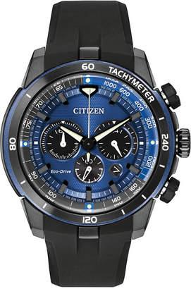 Citizen (シチズン) - Citizen Men's Chronograph Eco-Drive Ecosphere Black Polyurethane Strap Watch 48mm CA4155-12L