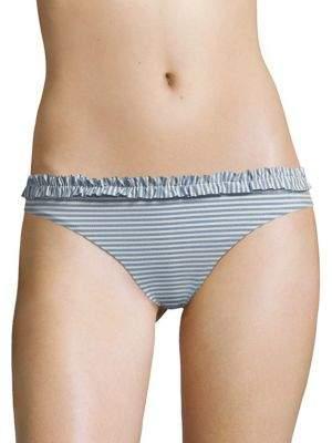 Shoshanna Chambray Pinstripe Bikini Bottom