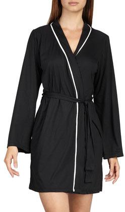 Cosabella Bella Jersey Robe, Black
