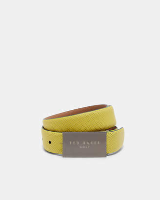 Ted Baker PINNER Rubberised leather belt