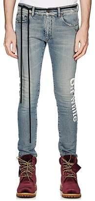 Off-White Men's Logo Skinny Jeans - Blue