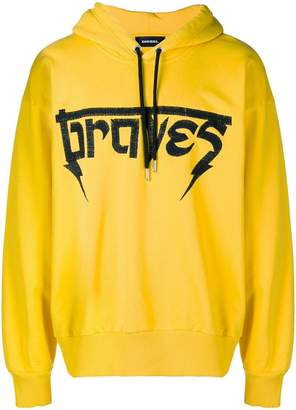 Diesel Braves embroidered hoody