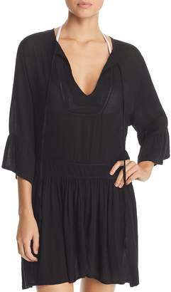 Vix Solid Agata Dress Swim Cover-Up