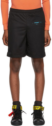 Off-White Off White Black Gradient Mesh Shorts