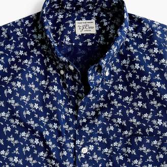J.Crew Short-sleeve Secret Wash shirt in pale floral print