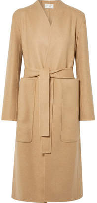 The Row Paret Belted Wool And Cashmere-blend Coat - Sand
