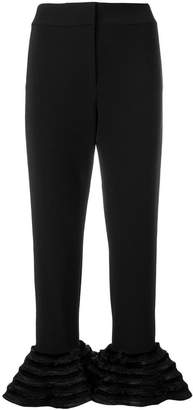 Alexis ruffled flare trousers