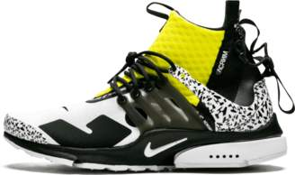 Nike Presto Mid/Acronym - 'Dynamic Yellow' - White/Black