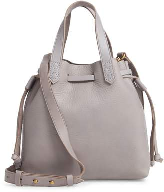 Madewell The Mini Pocket Transport Leather Drawstring Tote