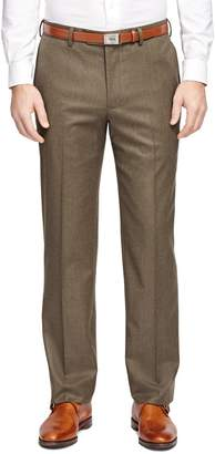 Brooks Brothers Fitzgerald Fit Plain-Front Flannel Trousers