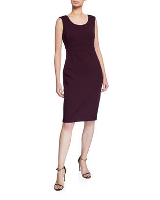 Iconic American Designer Elephant Crepe Sheath Dress
