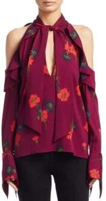 Tanya Taylor Adrienne Floral-Print Silk Top