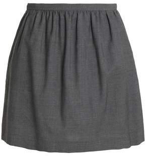 RED Valentino Wool-Twill Mini Skirt
