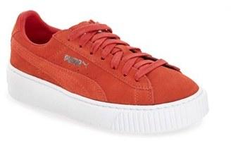 Women's Puma Suede Platform Sneaker $99.95 thestylecure.com