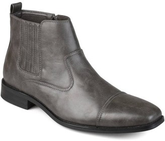 Territory Men's Cap Toe Faux Leather Dress Boots