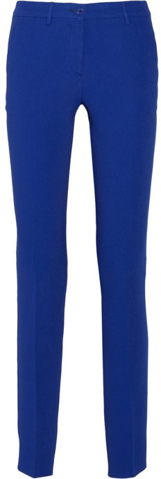 Crepe high-rise straight-leg pants