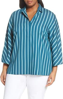 Lafayette 148 New York Maryana Mediterranean Stripe Blouse