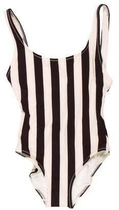 Solid & Striped Striped One-Piece Swimsuit w/ Tags
