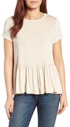 Women's Bobeau Short Sleeve Peplum Tee $44 thestylecure.com