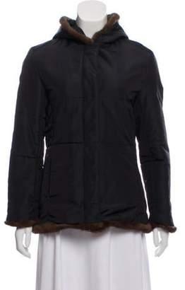 Andrew Marc Faux Fur Hooded Jacket Black Faux Fur Hooded Jacket