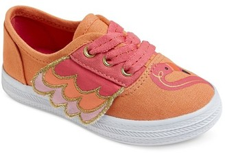 Cat & Jack Toddler Girls' Mel Flamingo Lace Up Canvas Sneakers Cat & Jack - Coral $14.99 thestylecure.com