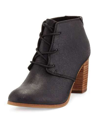 TOMS Lunata Faux-Leather Ankle Boot, Black