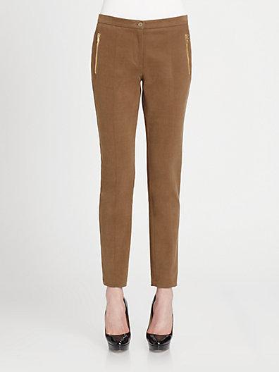Etro Stretch Cotton Straight Leg Ankle Pants