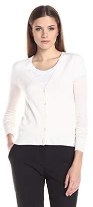 Theory Women's V-Neck Cardigan Merino Wool Sweater