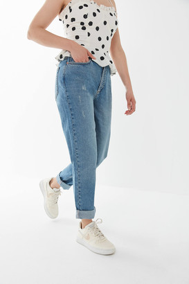 BDG Petite High-Waisted Mom Jean Light Wash