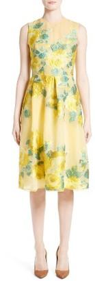Women's Lela Rose Floral Fil Coupe Dress $1,995 thestylecure.com