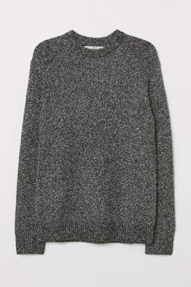 H&M Cotton-blend Sweater - Black