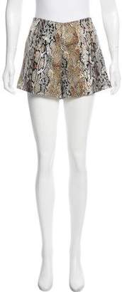 Naven Animal Print Mini Shorts