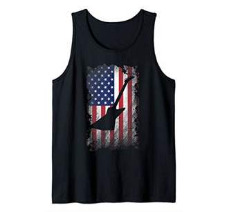 Electric Guitar American Flag Shirt USA Patriotic Love Music Tank Top