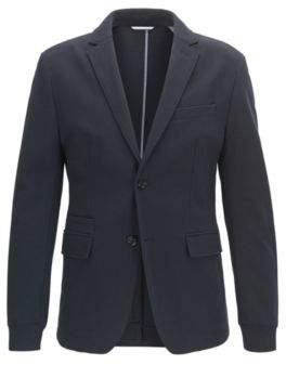 BOSS Hugo Jersey Blend Sport Coat, Extra Slim Fit Rodd J 38R Dark Blue