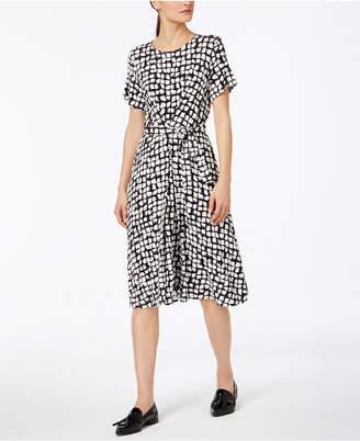 Max Mara Nazario Printed Belted Dress
