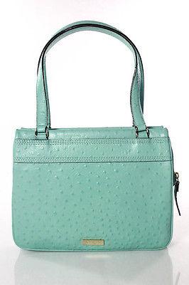Kate SpadeKate Spade Blue Ostrich Embossed Bow Detail Charm City Diehl Handbag