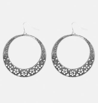 Avenue Textured Hoop Earrings
