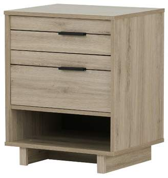 South Shore Fynn Nightstand with Drawers and Cord Catcher