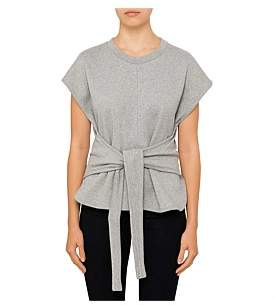 Alexander Wang Shortsleeve Wrap Front Top