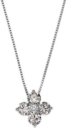GIANTTI K18YG プラチナ H & Cダイヤモンド ネックレス プラチナ